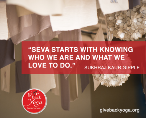 Seva starts with knowing who we are and what we love to do.