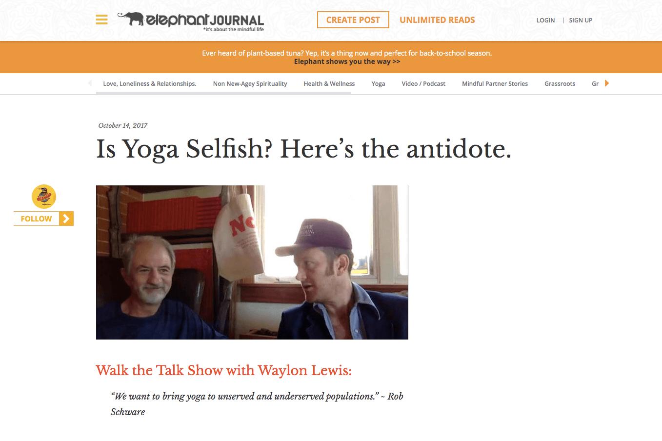 Is Yoga Selfish? Here's the antidote. | Elephant Journal